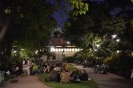 בכל ערב כל צעירי העיר יושבים בקבוצות על הסיין ושותים יין.