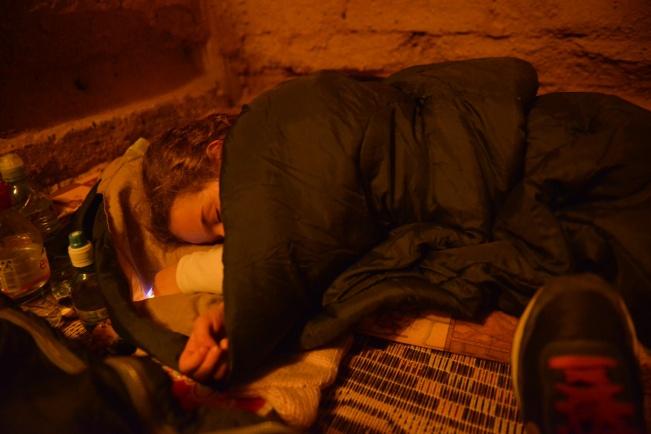 לילה ראשון בשק שינה