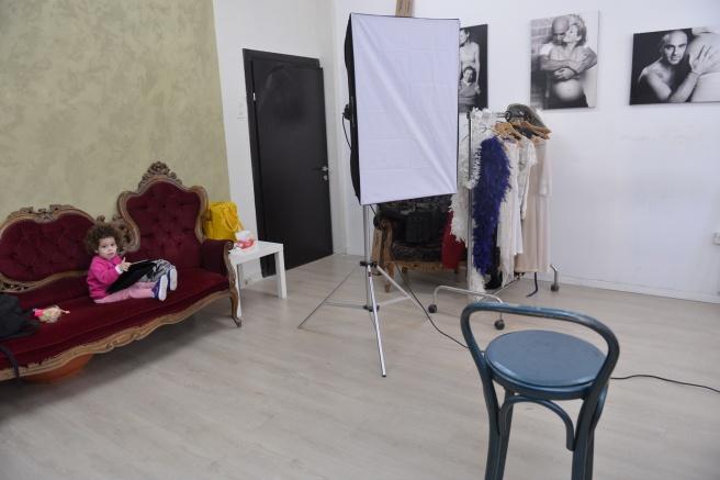 בסטודיו