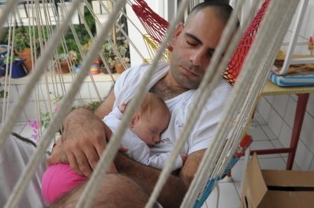 רם ועלמה בת שלושה חודשים