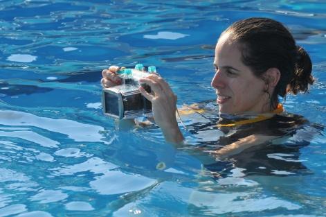 צילום: אלי מעייני. אני מצלמת בה גם בחתונות שקופצים למים