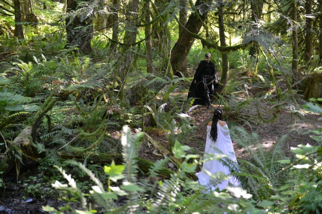 צילומי חתונה בסגנון יער פיות