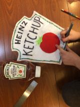 making ketchup and fries costume Galit Lewinski