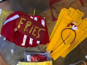 making ketchup and fries costume Galit Lewinski